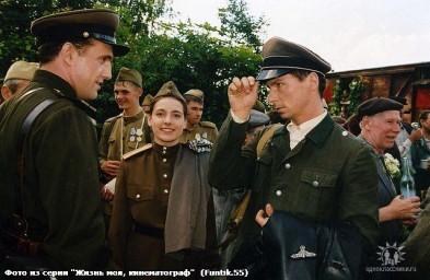 """На съёмочной площадке к/к """"Время собирать камни"""" 2004 г."""