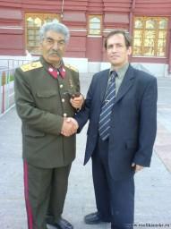 Я  с двойником И.В. Сталина.JPG