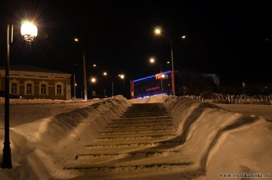 Вечером в центре города
