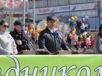 Глава города Федотов произносит речь