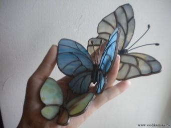 Бабочки витражные (ручная работа) Красивый, не приевшийся взглядам  сувенир