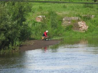 Рыбак на Усолке
