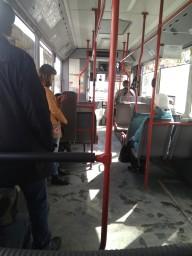 В автобусе маршрут 16