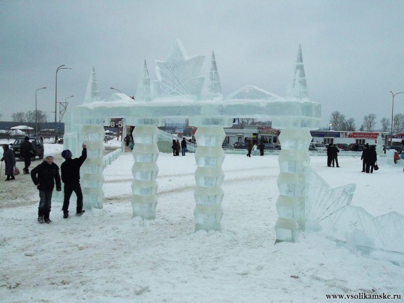 Вход в ледовый городок