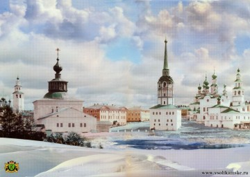 Центр Соликамска, начало XIX века