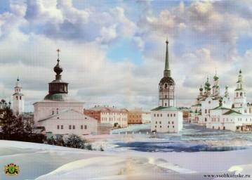Центр Соликамска, сто лет назад