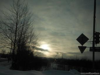 Небо зимой 2012-2013 на въезде в Центр города