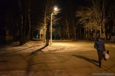 Перекрёсток Коммунаров - Большевистская ул.Здесь уже светло.