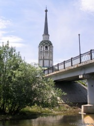 Соборная колокольня и поцелуев мост