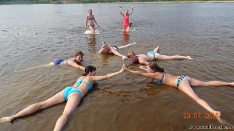 Синхронное плавание.Лето в луже