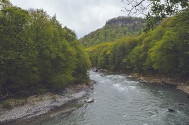 Горная река в Адыгеи