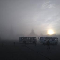 Соликамск в тумане #vsolikamske