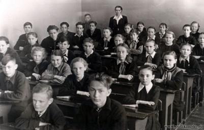 "Школа №4, 6""б"" класс, 1956 год, Боровск."