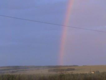 А из нашего окна даже радуга видна!