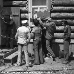 """На съёмочной площадке к/к """"Три дня праздника"""" 1978 г."""