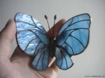 Бабочка витражная (ручная работа)