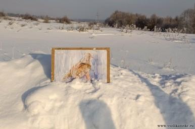 """"""" Чучело совы"""" - картина на скважине"""