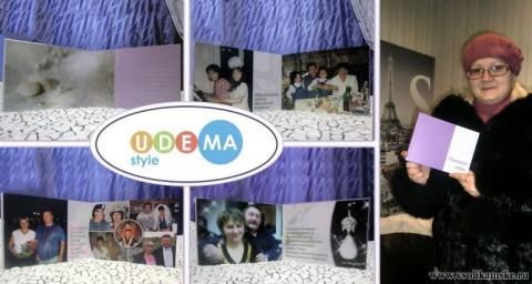 """фотокнига """"Перегрина любви"""". Сделана из домашних фотографий на жемчужную годовщину свадьбы."""