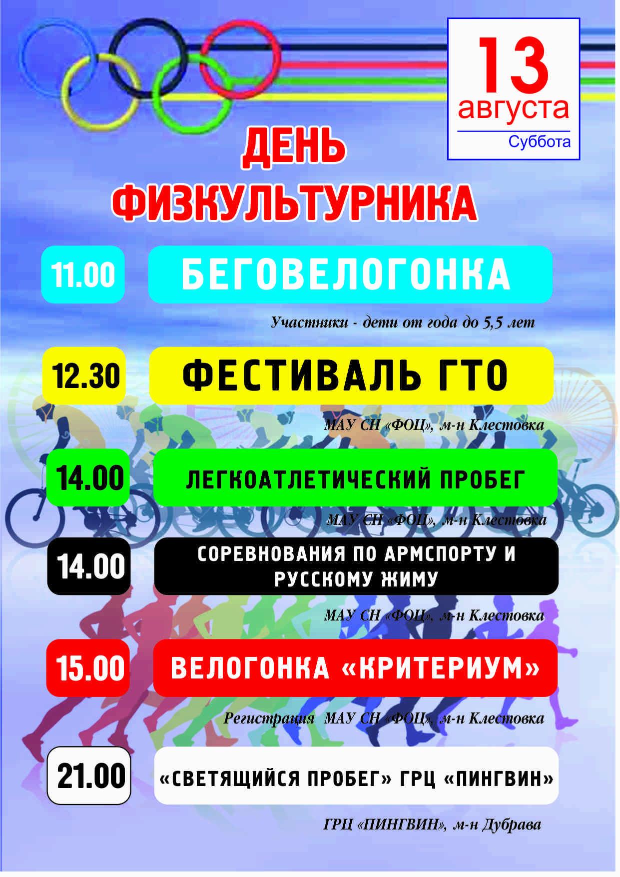 День физкультурника 2016 Соликамск