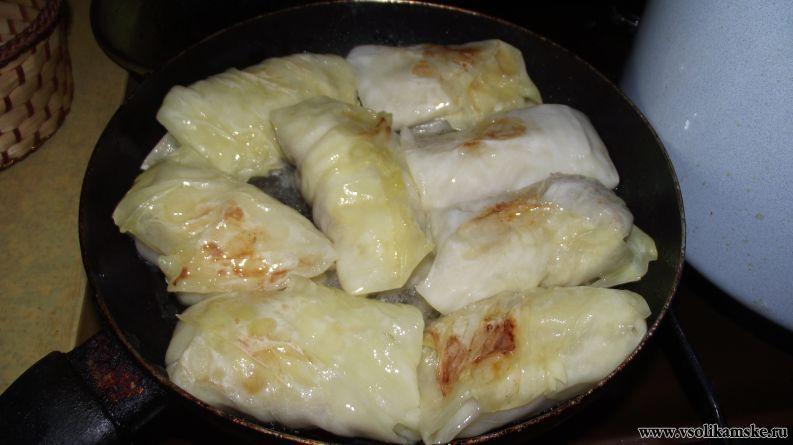 Жареные голубцы рецепт с фото пошагово